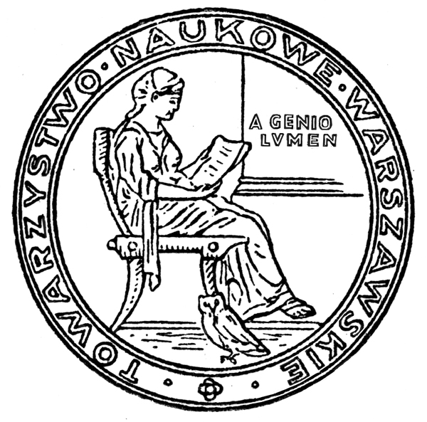 Seal of the Warsaw Scientific Society, established 1907